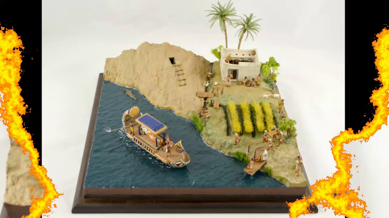 1 72 diorama of ancient egypt scratch build pharaoh boat the last