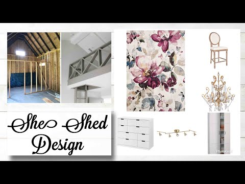 DIY Farmhouse She Shed |  Unfinished Inside Tour!