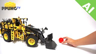 LEGO Technic 42030 AI(artificial intelligence) MOD VOLVO L350F Wheel Loader (Mindstorms NXT) by 뿡대디