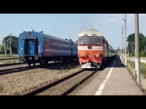 ТЭП-70 и 2ТЭ25Км на станции Клинцы.