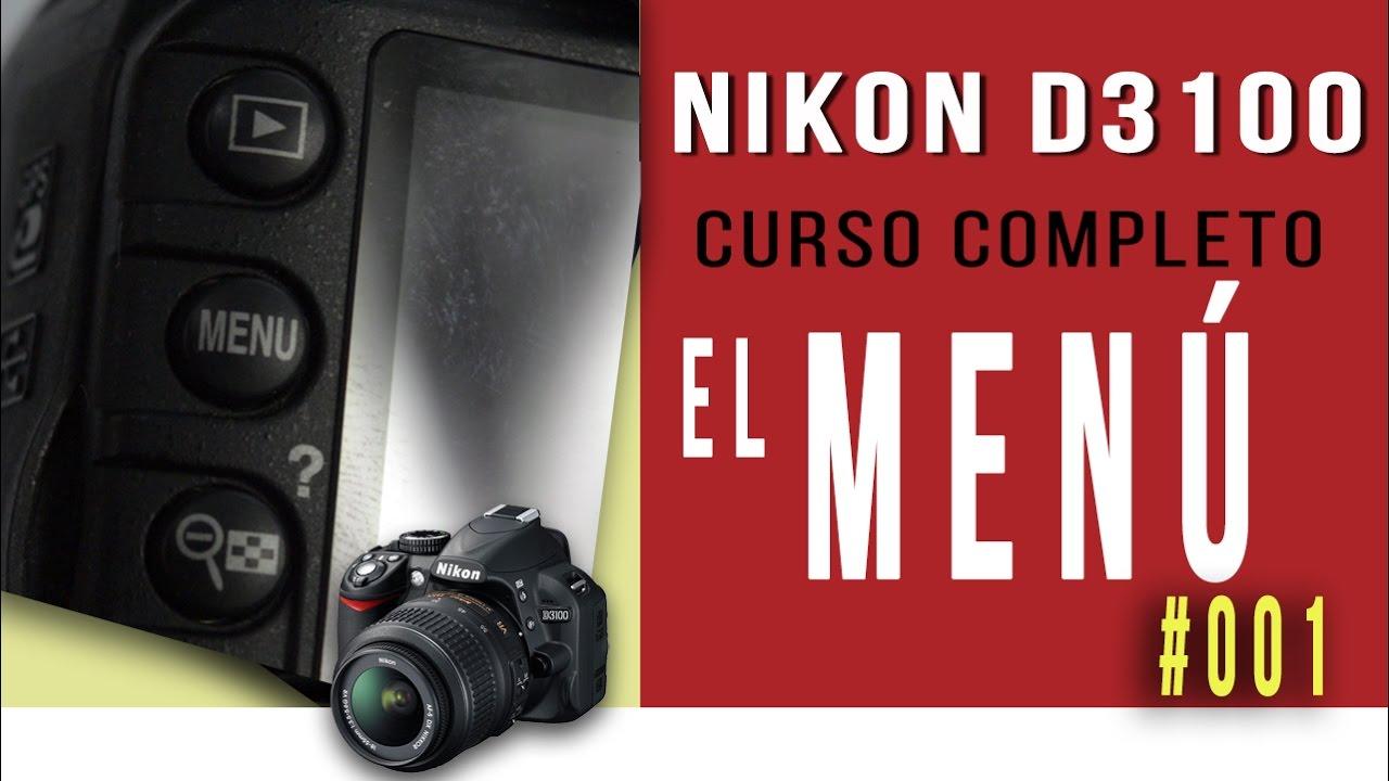 Nikon D3100 - MENU parte 1   Curso Completo - YouTube