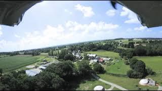 Vue 360° du Domaine ARVOR à Lanvallay, hébergement insolites en Bretagne