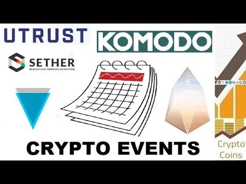 Upcoming Cryptocurrency Events (15th to 21st of April) - Looking for Good Investments and Pumps