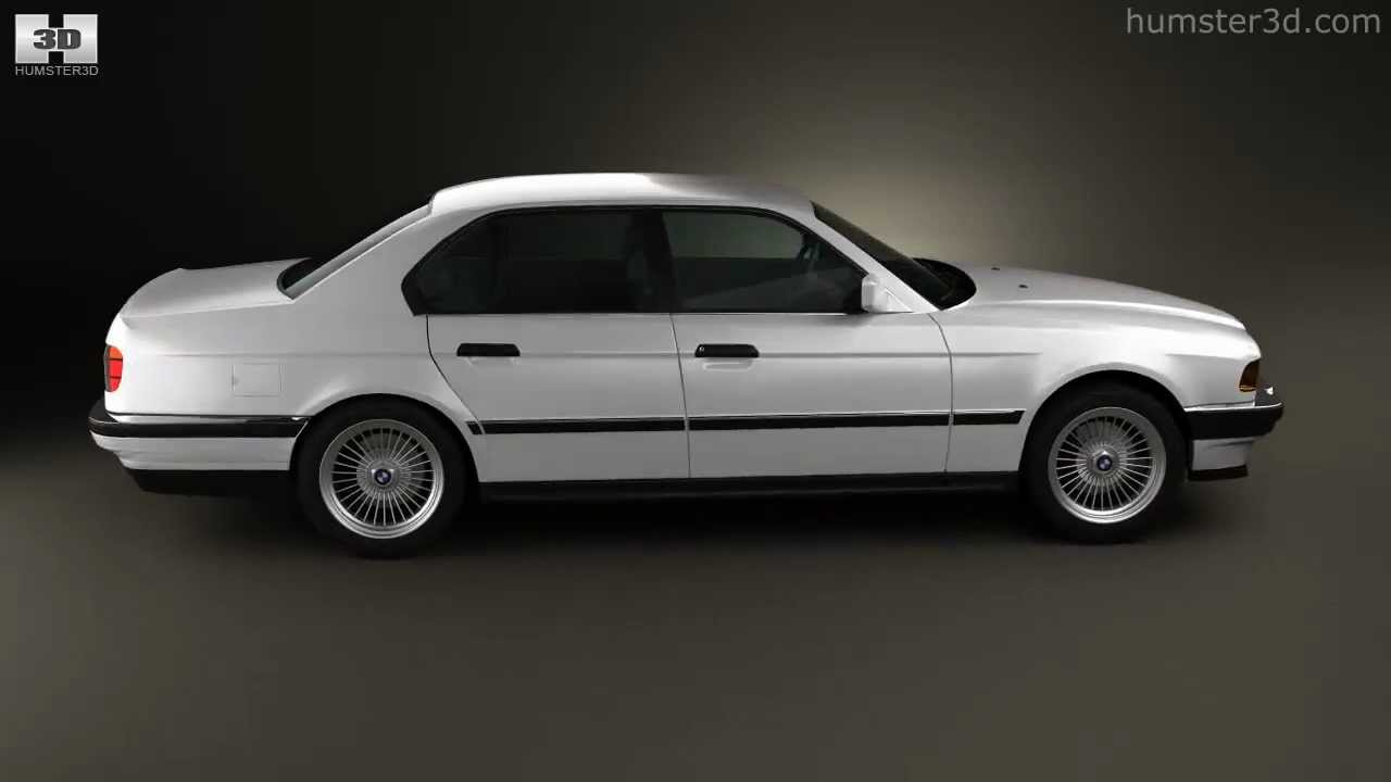 Bmw 7 Series E32 1992 By 3d Model Store Humster3dcom Youtube