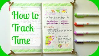 how to track time   a beginner s guide to bullet journal time tracking   bujo boosted