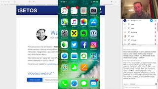 iSETOS Webinář s Honzou Březinou - Nastavujeme nový iPhone/iPad