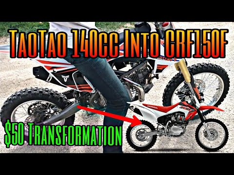 *NEW* Make Your TaoTao 140cc Pit Bike SOUND and RIDE Like a Honda CRF150R for $50 |POWER INCREASE|