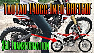 *NEW* Make Your TaoTao 140cc Pit Bike SOUND and RIDE Like a Honda CRF150R for $50  POWER INCREASE 