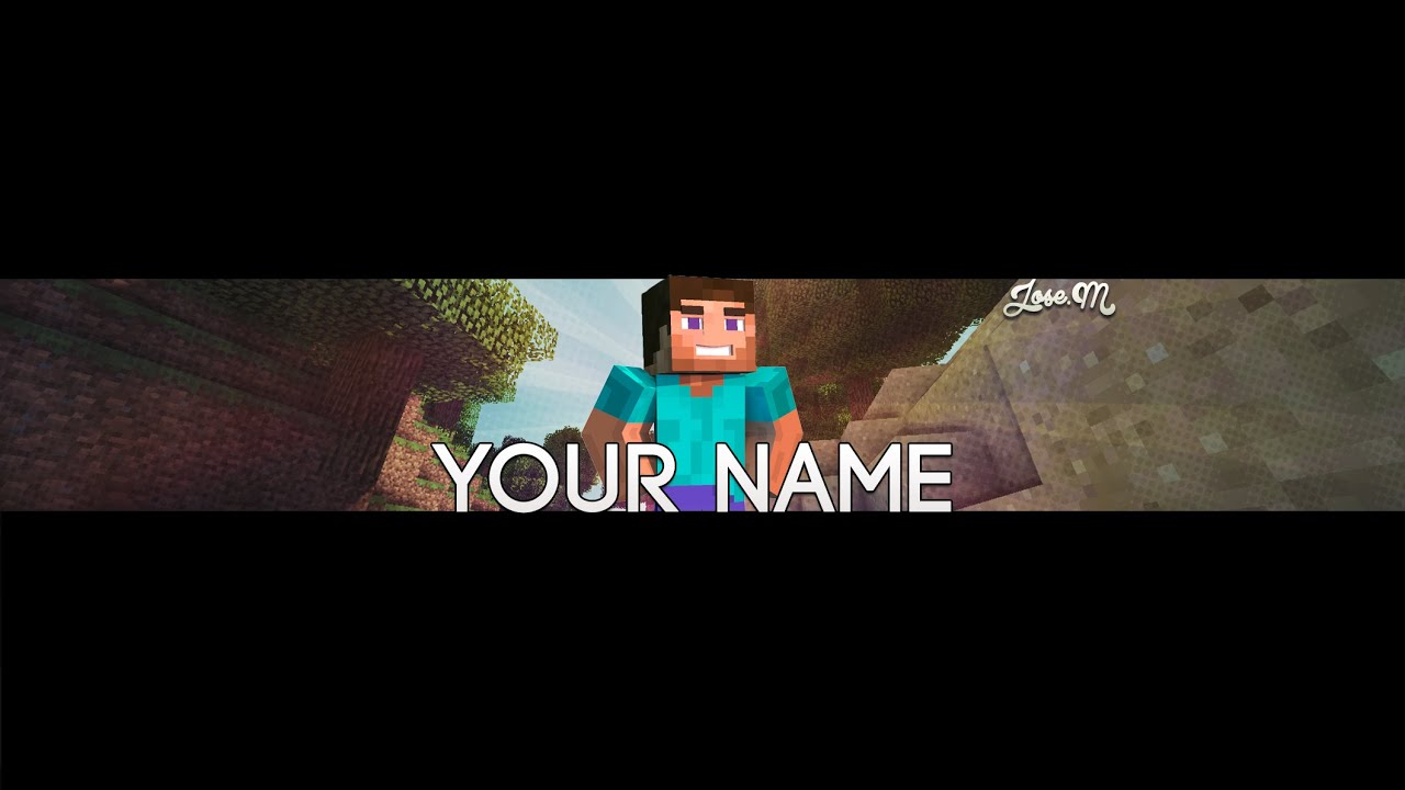Minecraft Youtube Banner Template w/Download - YouTube