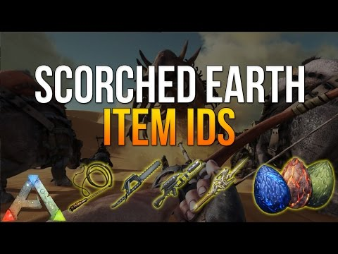 ARK SCORCHED EARTH ITEM ID's - ARK ITEM IDs LIST FOR ADMINS - HOW TO SPAWN ITEMS XBOX / PS4 / PC