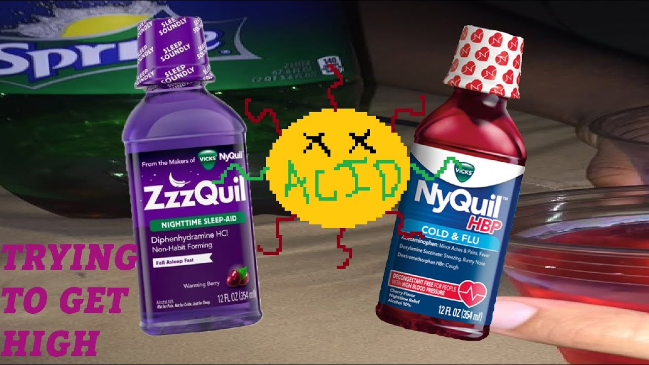 Bottle of drink nyquil half you what if a happens Robotripping: You