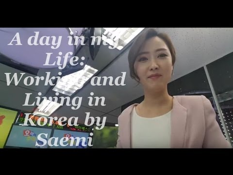#1 Vlog: A DAY IN MY LIFE: living and working in Korea 정세미 국제아나운서's Come follow me to work VLOG