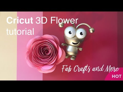 How to make Cricut 3D Rolled paper Flowers in Design Space DIY tutorial