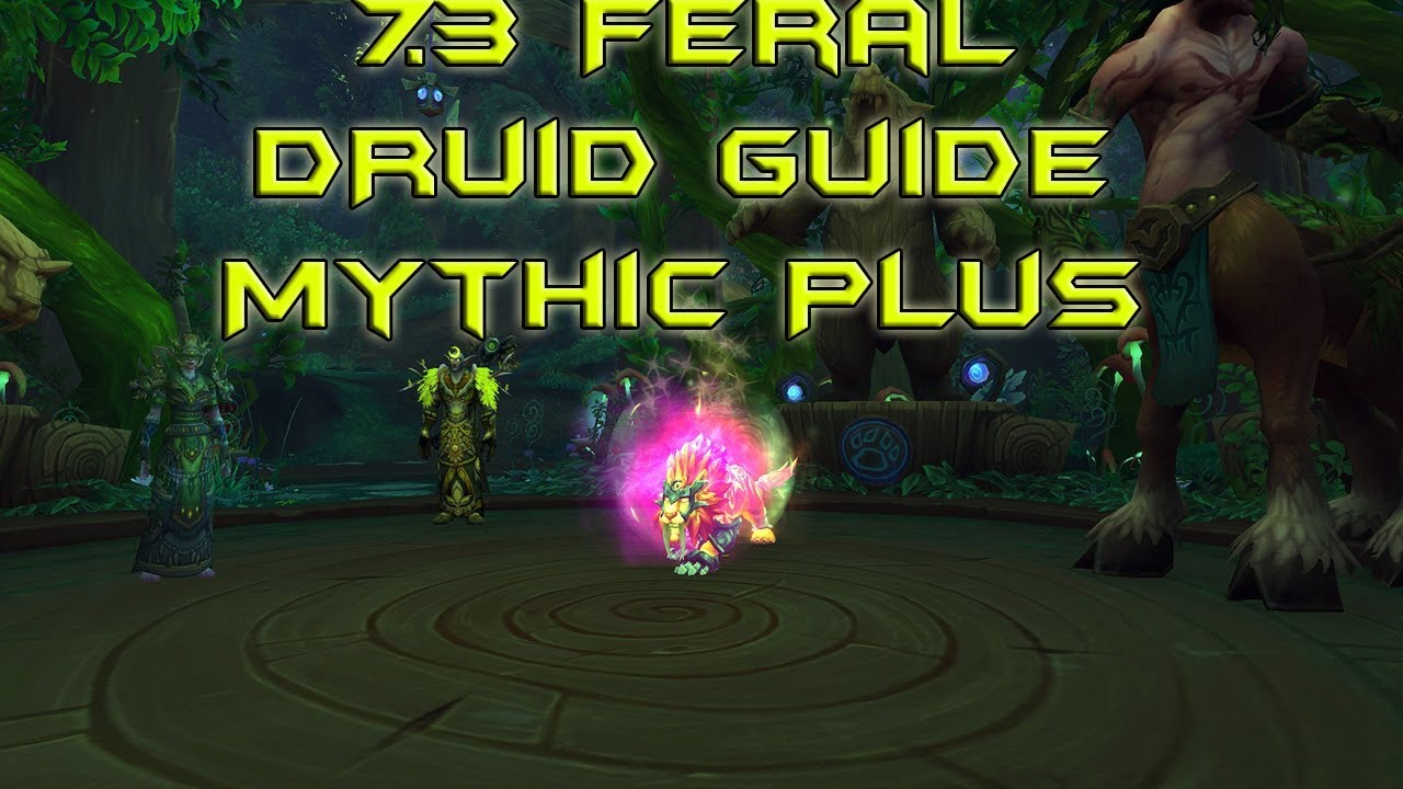 7 3 2 Feral Druid Pve Guide Mythic Plus Youtube