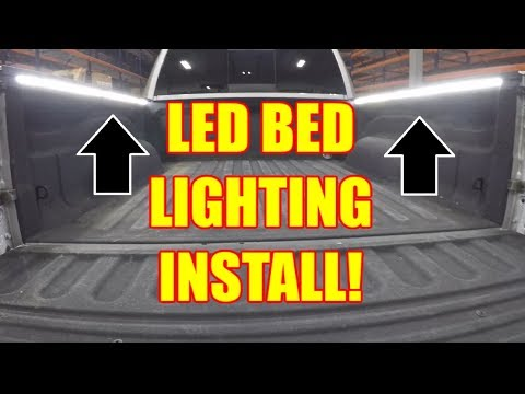 How to INSTALL LED Bed Rail Lighting on Your Truck - DIY - DODGE RAM