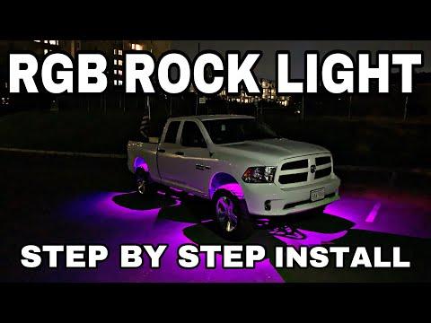 DODGE RAM ROCK LIGHT INSTALL: Step by step install of RGB Bluetooth rock lights. #rocklights