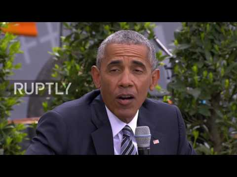 Germany: 'We can't hide behind a wall' Obama tells Berlin