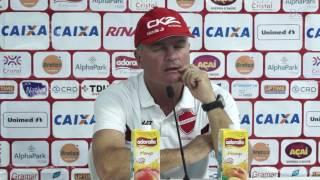 Coletiva do Técnico Mazola Junior após o empate do Vila Nova com o Goiás