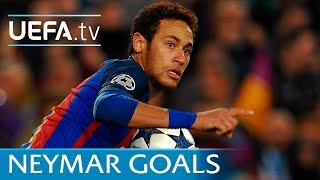 Neymar's seven goals for Barcelona against Paris