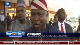 Ambode Pledges To Work For Buhari, Sanwo Olu's Victory