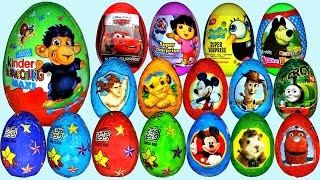 15 Surprise Eggs, Kinder Surprise Madagas car 3, Donald Duck, Surprise toy Angry Birds
