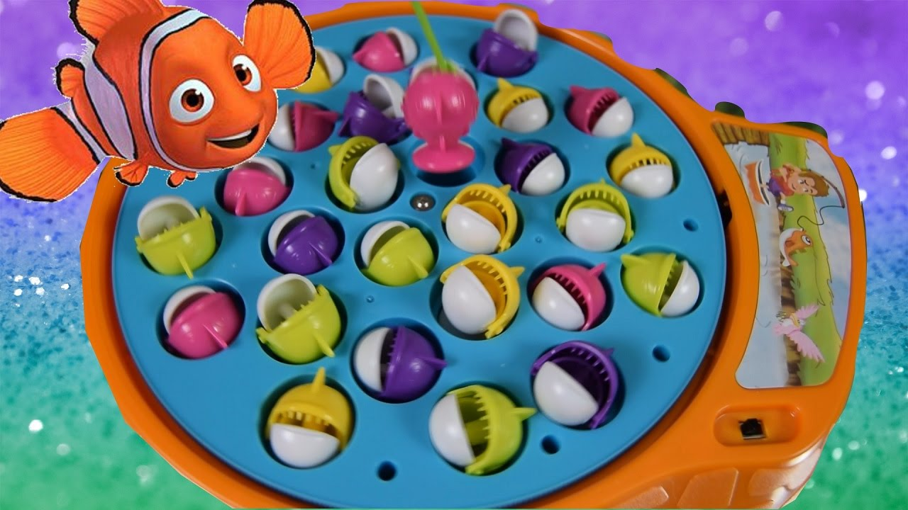 Fishing toy game piranha and shark catch fishing challenge for Catch and count fishing game