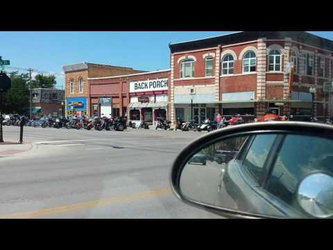 Driving Through Downtown Spearfish, SD - August - 2016