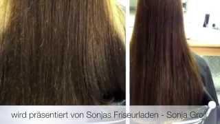 Sonjas Friseurladen - Spliss Away Demonstration - VORHER / NACHHER