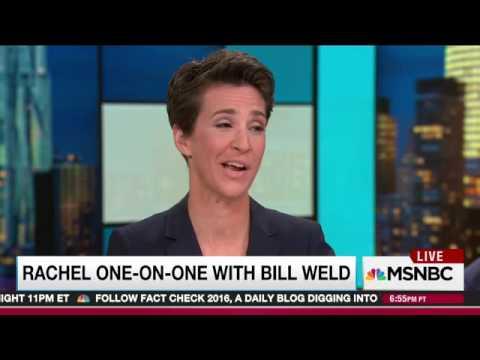 """Libertarian VP Nominee Bill Weld Supports Hillary Clinton l """"I"""