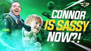 CONNOR IS SASSY NOW?! - Coolest Little Kid Ever! (Fortnite: Battle Royale)