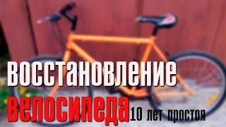 ИЗ ГРЯЗИ В КНЯЗИ ПОСЛЕ 10 ЛЕТ ПРОСТОЯ! | ВОССТАНОВЛЕНИЕ ВЕЛОСИПЕДА(Стало жалко мой велосипед который больше 10 лет практически не ездил, а гнил в гараже. Колеса были покручены,..., 2016-05-10T14:06:41.000Z)