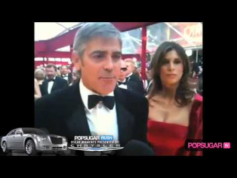 George Clooney & Elisabetta Canalis on Oscar Red Carpet
