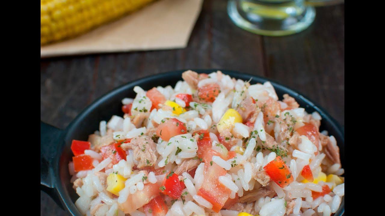 arroz con atun y tomate