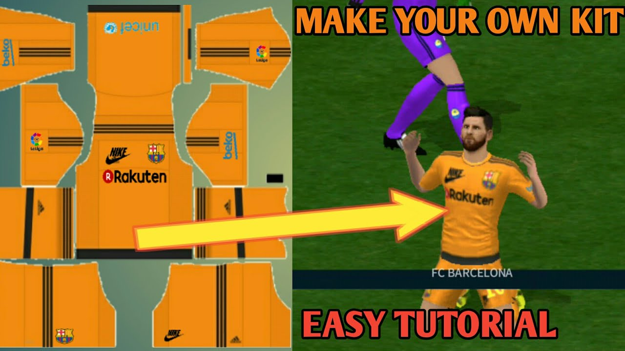 How To Make Your Own Kit In Dream League Soccer 18 Easy Full Tutorial