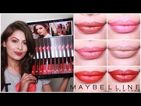 maybelline-sensational-liquid-matte-lipstick-review-&-swatches-|-kavya-k