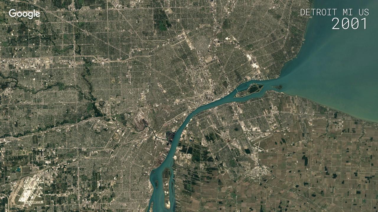 Detroit Michigan Map Google.Google Timelapse Detroit Michigan Us Youtube