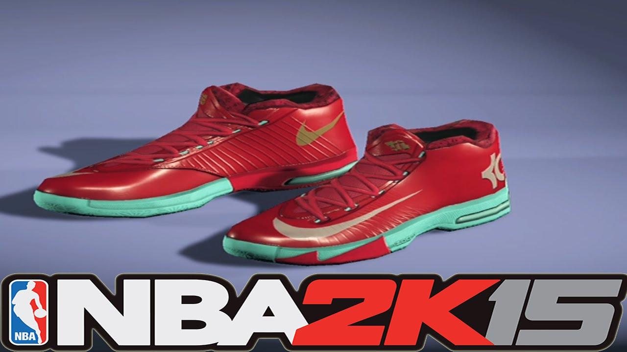 NBA 2K15 Shoe Creator - Nike KD 6 Christmas [#NBA2K15] - YouTube