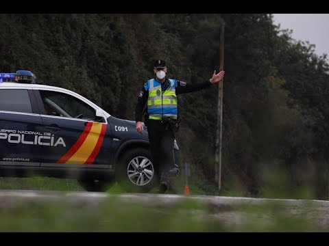 La policía establece controles de tráfico para evitar salidas de Ourense