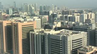 Panoramic 180 view of Abu Dhabi from One Tower