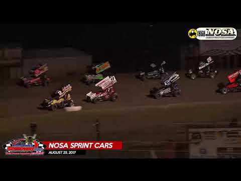 Buffalo Wild Wings NOSA Sprint Cars - August 25, 2017 - River Cities Speedway