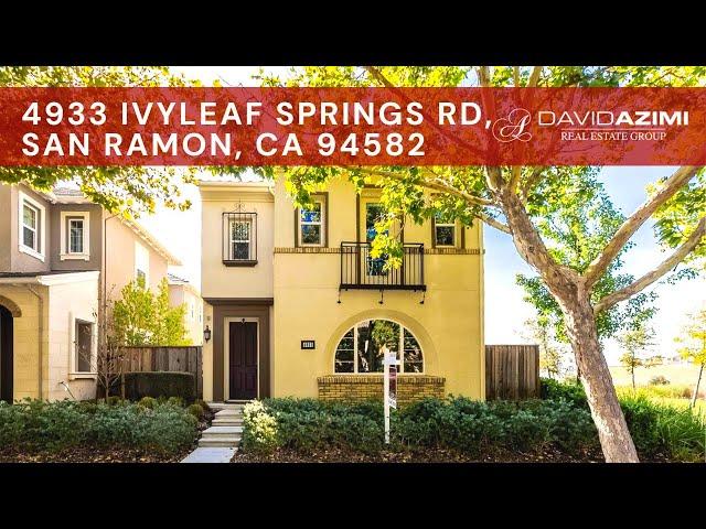 For Sale! 4933 Ivyleaf Springs Rd, San Ramon, CA 94582 | David Azimi