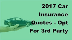 2017 Car Insurance Quotes  | Opt For 3rd Party Cover To Reduce Costs