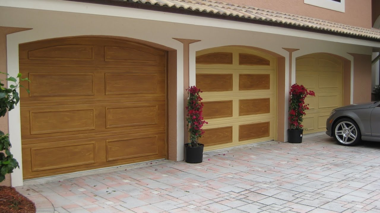 Types of garage doors materials design youtube for Garage door materials