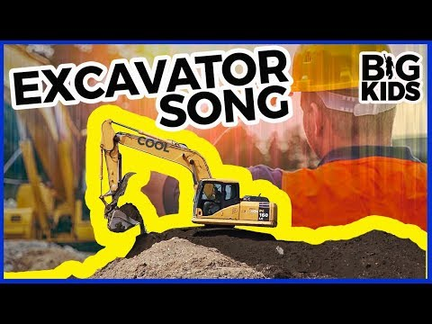Excavator Song for Kids | Excavator Videos for Children