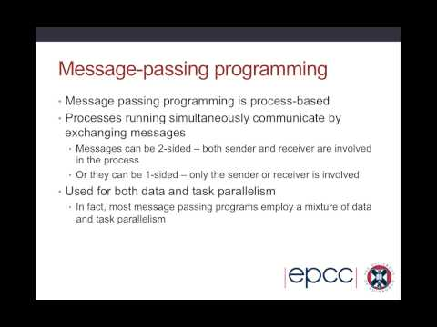 Parallel Programming Concepts (Lecture 2 of 3)