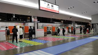JR西日本 大阪駅 大阪環状線ホーム 2021/4/27(4K UHD 60fps)