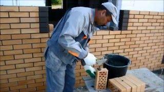 видео Клинкерная облицовка фасада дома кирпичом