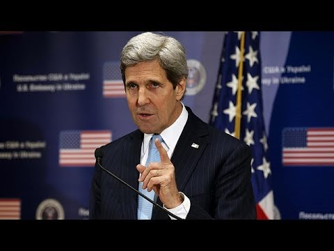 John Kerry calls on Moscow to withdraw troops and negotiate with Ukraine