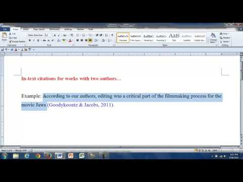 What is the APA style reference for multiple authors?