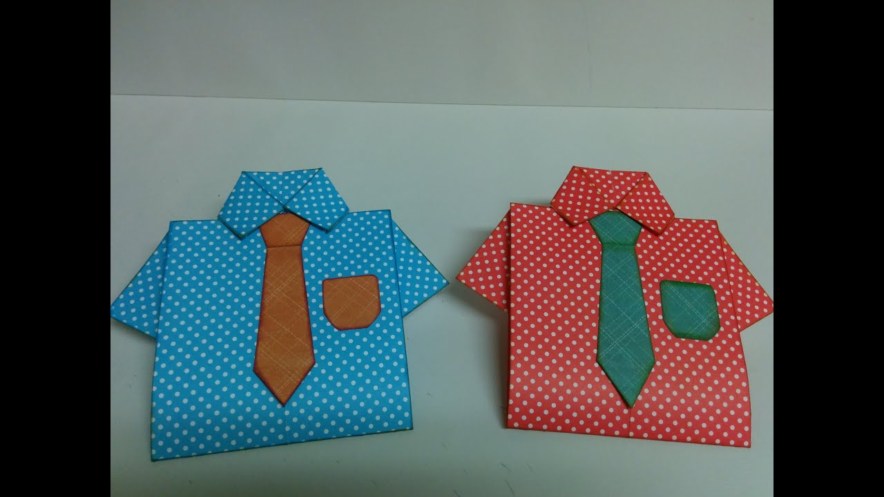 Art And Craft: How To Make Shirt Card / Father's Day Card